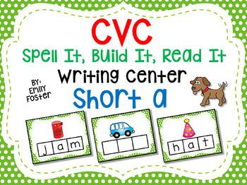 CVC Spell It, Build It, Read It Writing Center - SHORT A