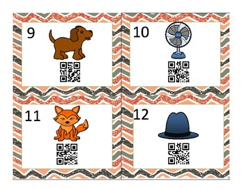 CVC Spell and Scan Task Cards WITH QR codes