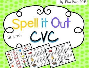 CVC: Spell it Out Activity Cards