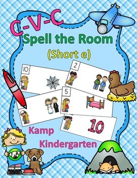 CVC Spell the Room (Short e)