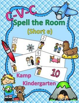 CVC Spell the Room (Short e)