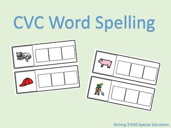 CVC Spelling Book - Adapted Book/File Folder