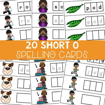 CVC Spelling Cards: Short O