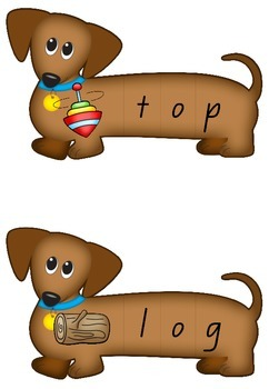 CVC Spelling Dogs - Puzzles