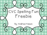 CVC Spelling Fun Freebie!