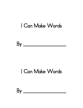 CVC Spelling Page