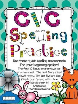CVC Spelling Practice Pack