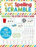 CVC Spelling Scramble - Unscramble the letters to make CVC words!