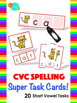 CVC Spelling Super Task Cards!