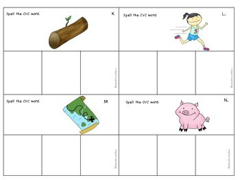 CVC Spelling Task Box