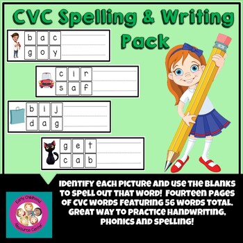 CVC Spelling and Writing Pack