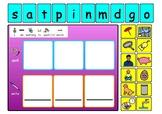 Phased 2 Phonics CVC Spelling boards   KS1 reading - SEN - ASD