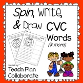 CVC Spin, Write, and Draw- Fall Theme