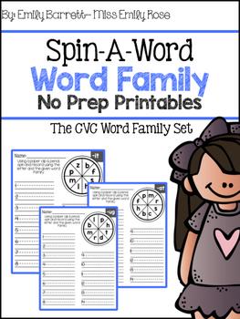 CVC Spin a Word