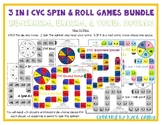 CVC Spin and Roll Board Games: 3 in 1 Bundle