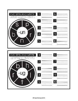 CVC Spin and Write Cards