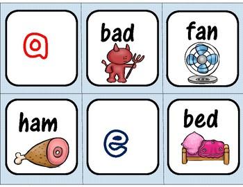Spoons Game CVC Words