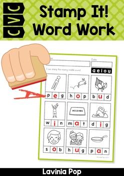 CVC Stamp It! Word Work Center