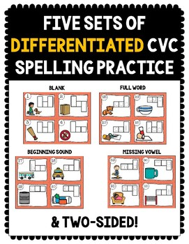 CVC Station Spelling Cards