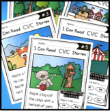 CVC Stories - Reading passages with comprehension question