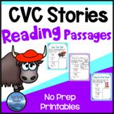 1 CVC Stories: Short Vowel CVC Reading Comprehension Passages and Questions