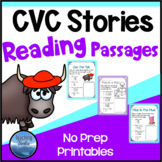 CVC Stories: Short Vowel CVC Reading Comprehension Passages and Questions