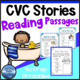 CVC Stories Pack 2: Short Vowel CVC Reading Comprehension Passages and Questions