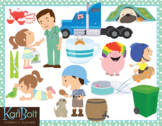CVC Story Words Clip Art Bundle 1