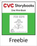 CVC Storybook - 1 Mini-Book - PIG SIPS - set 2.3 book 3