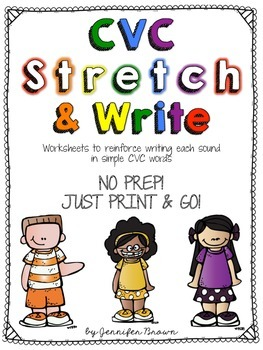 CVC Stretch and Write Worksheets