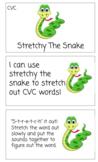 CVC Stretchy The Snake Task Cards