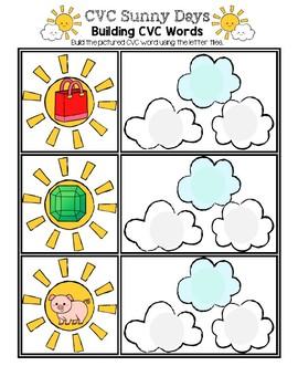 CVC Sunny Days - Spelling CVC Words