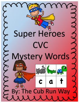 CVC Super Hero Mystery Word