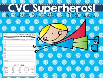 CVC Superhero Sentences!