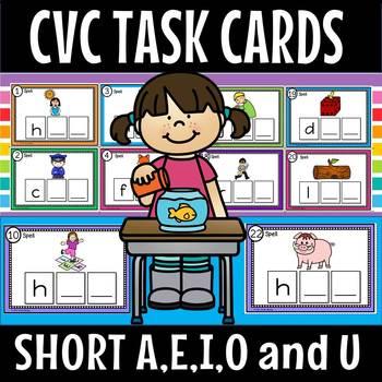 CVC TASK CARDS BUNDLE(50% off for 2 weeks)