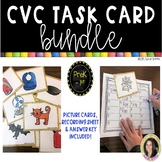 CVC Word Game Task Card Bundle