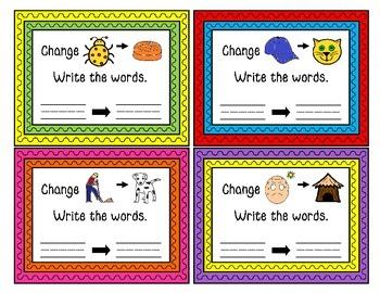 CVC Word Task Cards