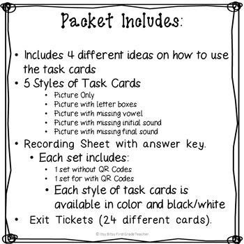 CVC Task Cards~ Christmas Edition