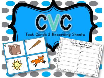 CVC Task Cards & Recording Sheets