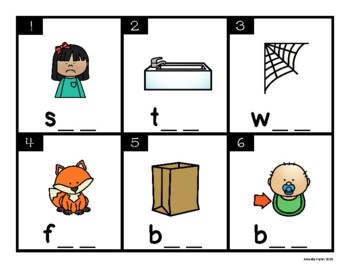 CVC Task Cards (Scoot, Write the Room, Center)