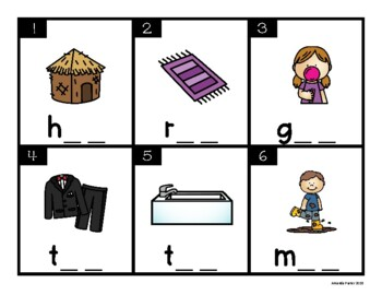 CVC Task Cards: Short U (Scoot, Write the Room, Center)