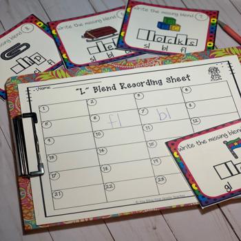 """Blend Task Cards (""""L"""" Blend)"""