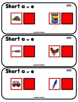 CVC Task Cards to Differentiate Sounds