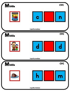 CVC Task Cards for Middle Sounds