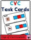 CVC Task Cards for Spelling Practice