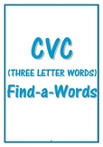 CVC (Three Letter Words) FIND-A-WORDs