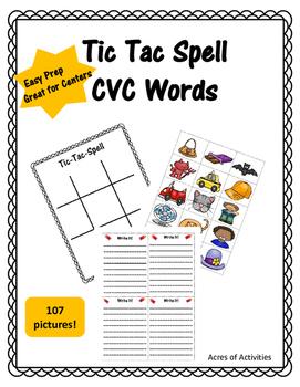 CVC Tic Tac Spell