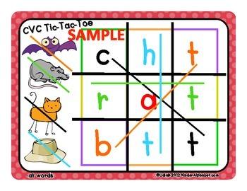CVC Tic-Tac-Toe Mats