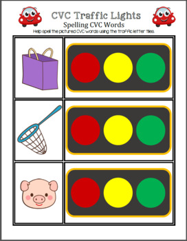 CVC Traffic Lights - Spelling CVC Words