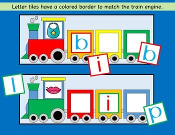 CVC Trains - Word Building - Short i